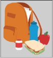 Picture of a bag with lunch in it